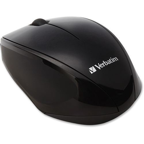 "Wireless mouse, blue led, easy grip, 3-7/8""x2-1/2""x1-1/2"",bk, sold as 1 each"