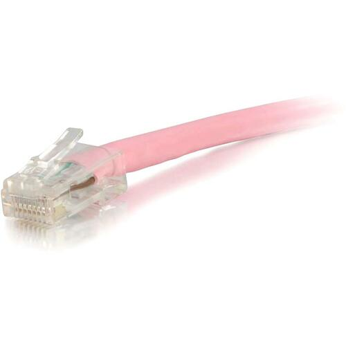 C2G 2FT CAT6 PINK NON BOOTED PATCH CABLE