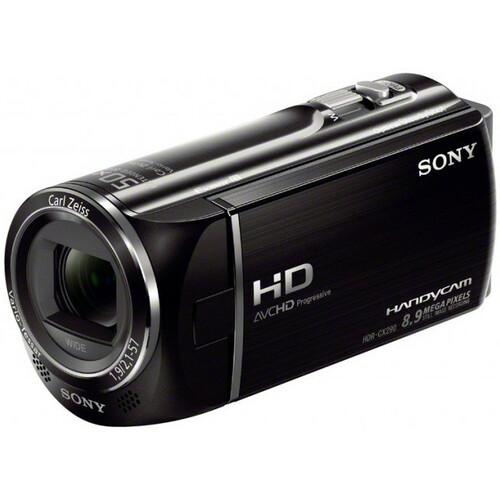 "Sony Handycam HDR-CX290/B Digital Camcorder - 2.7"" LCD - Exmor R CMOS - Full HD - Black"
