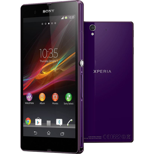 Sony Xperia Z Smartphone - 16 GB Built-in Memory - Wireless LAN - 3G - Bar - Purple