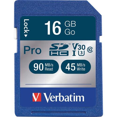 VERBATIM - MOBILITY 16GB SDHC PRO 600X UHS-1 CLASS 10 MEMORY CARD    NR