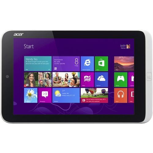"Acer America ICONIA W3-810-27602G06nsw 8.1"" Intel Atom Z2760 1.50GHz 2GB RAM Windows 8 32-bit 64GB Net-tablet PC"