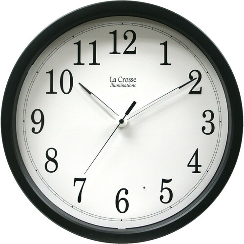 La Crosse Technology 403-314 Clock /w Black Frame