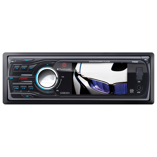 "Planet Audio P9686 Car DVD Player - 3.2"" Touchscreen LCD - 16:9 - Single DIN"
