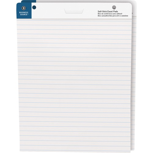 """Bus. Source 25""""x30"""" Lined Self-stick Easel Pads 