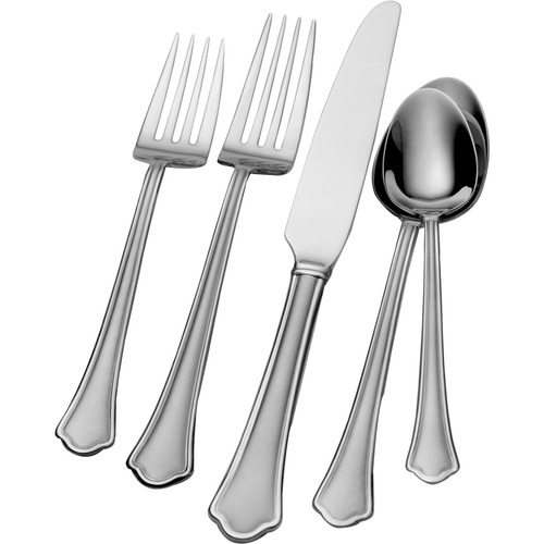 Lifetime Brands 45 Piece Capri Frost Flatware Set, 18/0