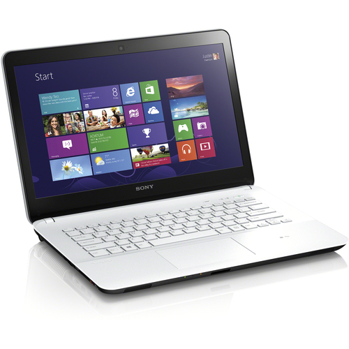 "Sony VAIO Fit E SVF14214CXW 14"" LED Intel Core i5 i5-3337U 1.80 GHz 6GB RAM 750GB HDD Windows 8 64bit White Notebook"