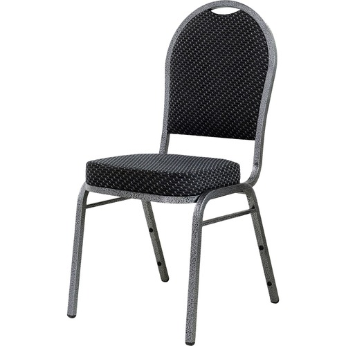 Lorell Black Fabric Stacking Chair | by Plexsupply