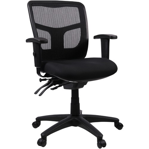 Lorell Managerial Swivel Mesh Mid-back Chair | by Plexsupply