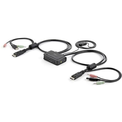 STARTECH 2PORT USB DP CABLE KVM SWITCH W/ AUDIO& REMOTE SWITCH USB POWERED