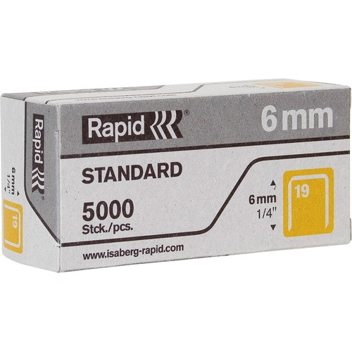 "Rapid R23 No.19 Fine Wire 1/4"" Staples 