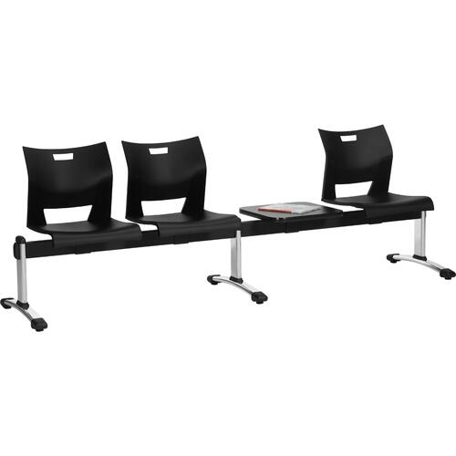 Global Duet Beam Seating   Armless Upller Poly Seat And Back