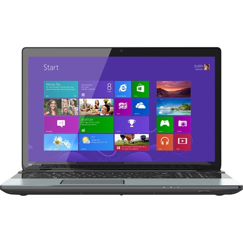 "Toshiba Satellite S75-A7140 17.3"" LED (TruBrite) Notebook - Intel Core i5 i5-4200M 2.50 GHz - Ice Silver in Brushed Aluminum"