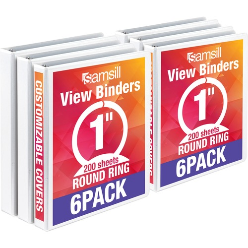 "Samsill 1"" Value View Binders 