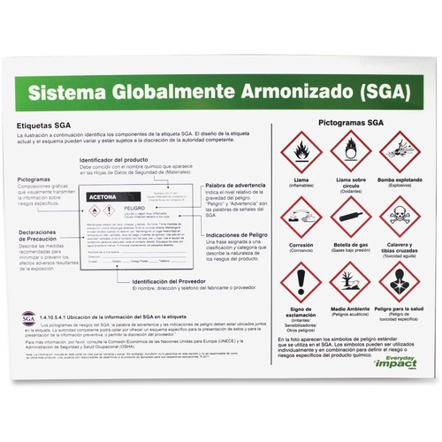 Impact GHS Label Guideline Spanish Poster | by Plexsupply