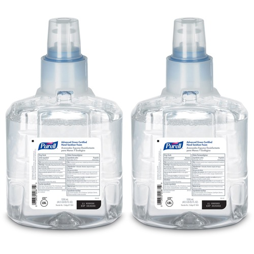 PURELL® LTX-12 Hand Sanitizer Foam Refill 40.6 fl oz (1200 mL) 2 each per carton