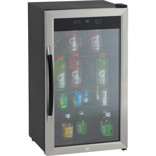 Avanti, beverage cooler, 3.1cf, glass door, bk/sr, sold as 1 each
