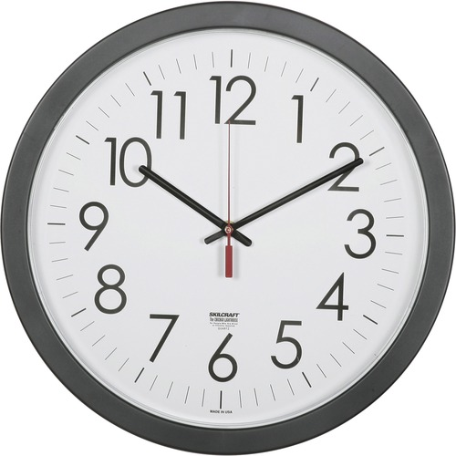 "SKILCRAFT 14.5"" Round Workstation Wall Clock"