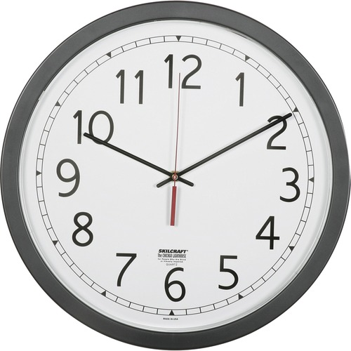 "SKILCRAFT 16.5"" Round Workstation Wall Clock"