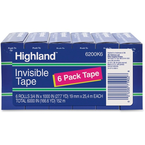 3M Highland Economy Invisible Tape | by Plexsupply