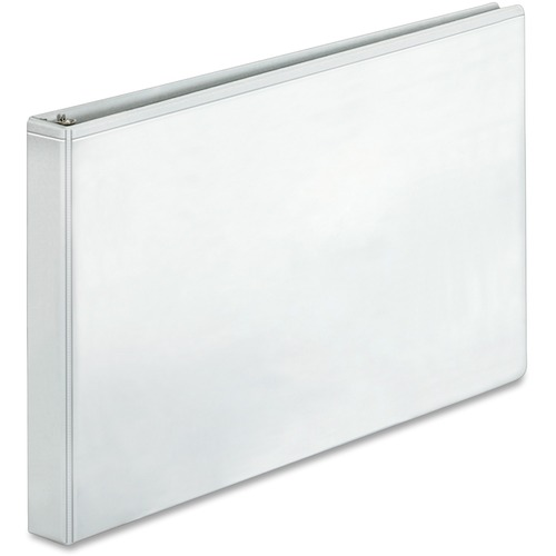 Bus. Source Tabloid-size White Reference Binder | by Plexsupply