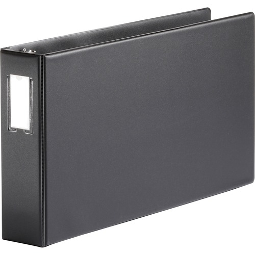 Bus. Source Tabloid-size Black Reference Binder | by Plexsupply