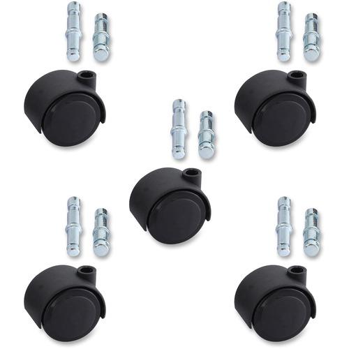 Lorell Premium Dual Soft Wheel Casters Set | by Plexsupply