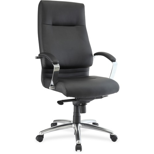 Lorell Modern Exec. High-back Leather Chair | by Plexsupply