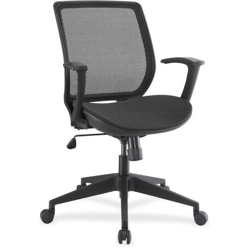 Lorell Mesh/Mesh Executive Mid-back Chair | by Plexsupply