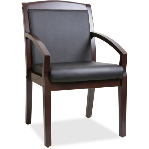 Lorell Sloping Arms Wood Guest Chair | by Plexsupply
