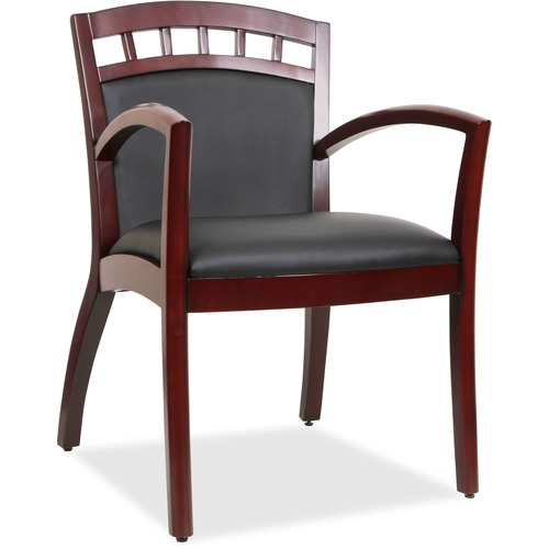 Lorell Crowning Accent Wood Guest Chair | by Plexsupply