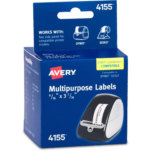 Custom Card Template avery label printer : Avery Labels for Thermal Printers --AVE4155