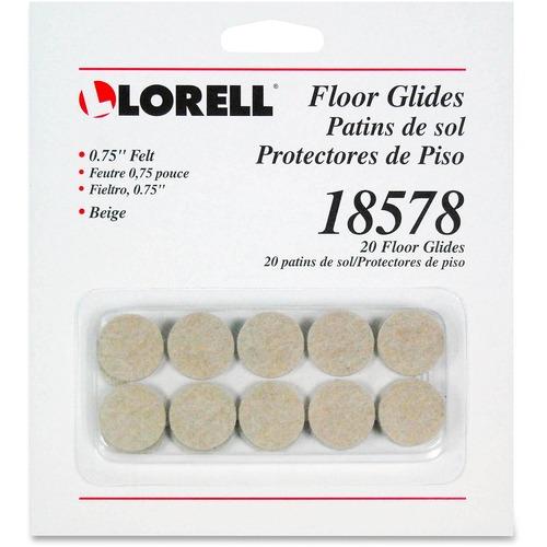 Lorell Felt Round Tab Floor Glides | by Plexsupply