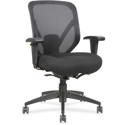 Lorell Self-tilt Mid-back Chair | by Plexsupply