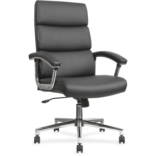 Lorell Leather High-back Chair | by Plexsupply