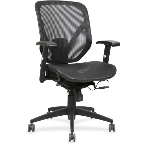 Lorell Mesh Seat/Back Mid-back Chair | by Plexsupply