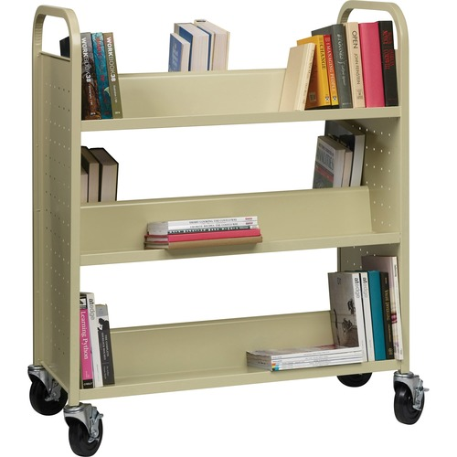 Lorell Double-sided 6-shelf Book Cart | by Plexsupply