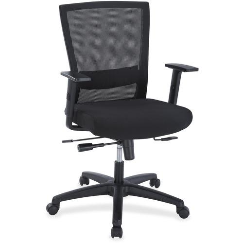 Lorell Ergonomic Mid-back Mesh Chair | by Plexsupply