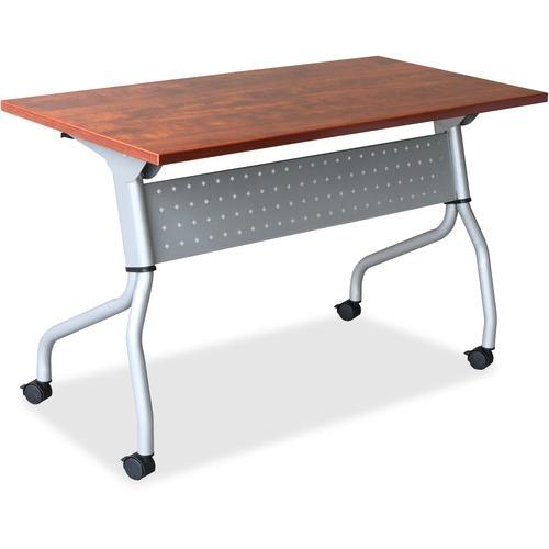 Lorell Cherry Flip Top Training Table   by Plexsupply