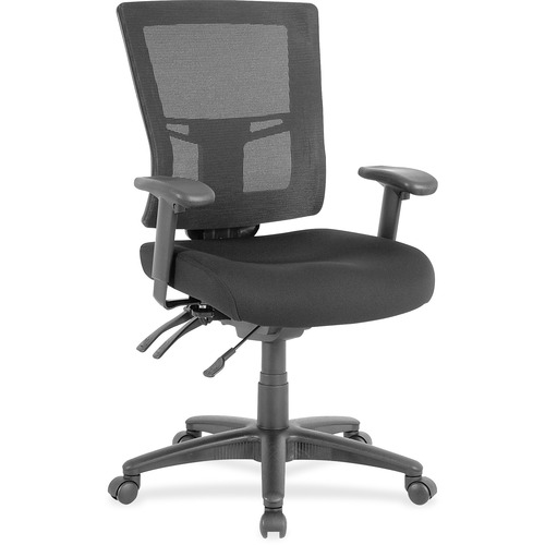 Lorell Swivel Mid-back Mesh Chair | by Plexsupply