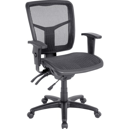 Lorell Mid-back Swivel Mesh Chair | by Plexsupply