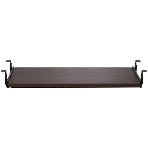 Lorell Mahogany Laminate Keyboard Tray
