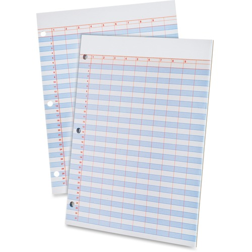 Tops Heavyweight 3-Hole Punched Data Pads | by Plexsupply