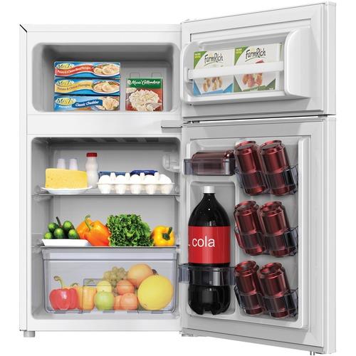 Avanti Model RA3106WT - 3.1 CF Two Door Counterhigh Refrigerator - White