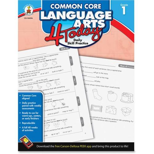 Carson-Dellosa Common Core Language Arts 4 Today Workbook Education Printed Book - English