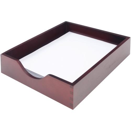 Carver Wood Mahogany Desk Tray | by Plexsupply