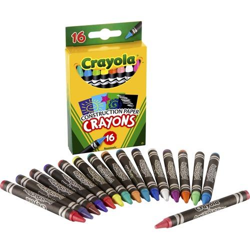 Crayola 16 Construction Paper Crayons | by Plexsupply