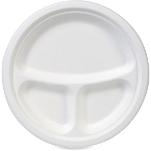 Dixie EcoSmart 10 Inch 3 Compartment Plate