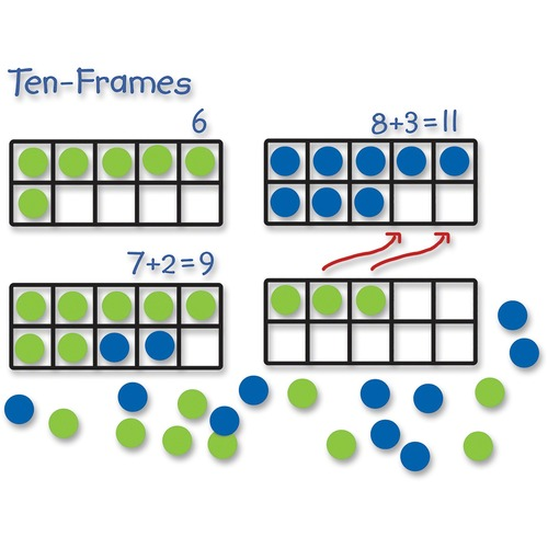 Learning Res. Giant Magnetic Ten-frame Set | by Plexsupply