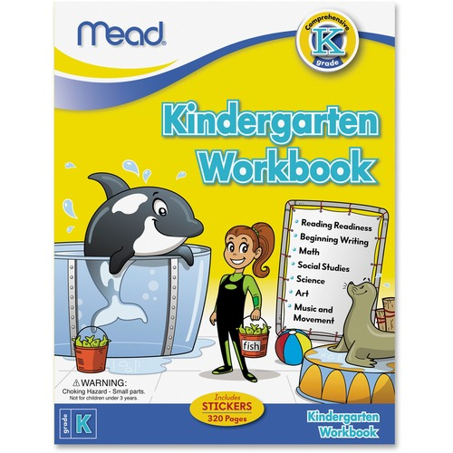 Mead Kindergarten Comprehensive Workbook Education Printed Book for Science/Mathematics/Social Studies